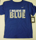 NEW Youth Kids I Believe In Blue Univ of KENTUCKY WILDCATS Blue NIKE Tee T-Shirt