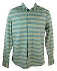Blend 2088-10 Men's Cameo Blue Striped Long Sleeve Button Up Cotton Top New