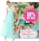 BNWT GRECIAN Aqua Turquoise Chiffon Maxi Prom Evening Bridesmaid Dress 8 - 18