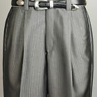 "Steve Harvey SLACK - Mens DARK GRAY STRIPED Dress Slack 40"" Waist - P40"