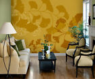 Gold Modernized Leaf Design Peel & Stick Tella Mural ~ Size Choice