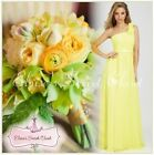 BNWT LEMON SORBET Corsage Chiffon Maxi Prom Evening Bridesmaid Dress UK 6 - 18