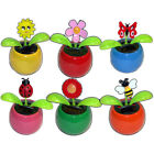 SOLAR POWERED FLIP FLAP TOYS DANCING ORNAMENT FLOWERS BUTTERFLY BEE FROG PLANTS