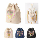 New Fashion Women's Lion Face Embroidery Handbag Studded Shoulder Bags Backpack
