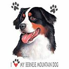 Bernese Mountain Dog Love Hood Sweatshirt Pick Your Size