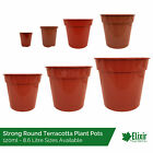 Plant Pots | Strong Glossy Terracotta Plastic 2