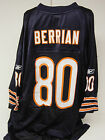 NEW Mens REEBOK BERRIAN #80 Chicago Bears Blue NFL Equipment Football Jersey