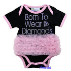 Halloween Baby Light Pink Ruffles Ghost Boo Rhinestone Black Bodysuit Jumpsuit