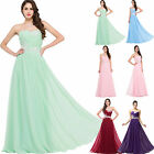 CHEAP Stock One shoulder Chiffon Bridesmaid Gown Evening Prom Party Long Dresses