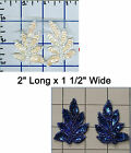 "2"" Sequin Leaf Shape Outline Seed Beads Applique Embellishments Sew Glue On"