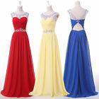 Formal Chiffon Long Bridesmaid Wedding Evening Party Dresses Prom Gowns Plus Sz