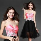 2014 New Sexy Prom Dress Bridal Wedding Gown Formal Evening Party Dresses Short