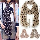 UK Cat Print Scarf Celebrity Fashion Shawl Scarves WRAP Ladies Animal New Soft