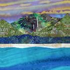 HANALEI BAY Purple No Border~Batik Fabric Quilt Panel Square~Kauai Hawaii Beach