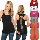 URBAN CLASSICS SEXY DAMEN CUTTED OUT BACK TANKTOP T-SHIRT RÜCKENFREI XS - XL