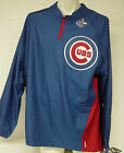 NEW Mens MAJESTIC Blue Chicago CUBS MLB Convertible Triple Peak Game Jacket