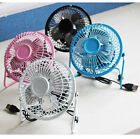 New Fashionable Super Mute Mini USB Metallic Desk Fan PC Cooler Cooling Laptop