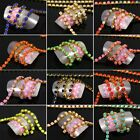 2mm, Glitter Jeweled with Faux Gemstones Rhinestone 3D Gold Metal Chain Line NEW