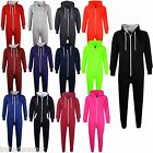KIDS GIRLS BOYS NEW STYLE PLAIN COLOUR ONESIE ALL IN ONE JUMPSUIT SIZE 2-13Yr