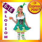 I15 Ladies Oktoberfest Irish Bar Beer Maid Wench Fancy Dress Up Costume + Hat
