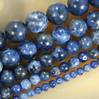 Natural Blue Sodalite Round Beads 15.5