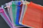 20pcs Plain Organza Jewelry Xmas Gift Party Bags Packet More Size Color You Pick