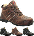 MENS LEATHER WALKLANDER SAFETY BOOTS STEEL TOE CAP HIKING TRAINERS TREKKING SHOE
