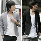 New Men's Casual Slim Fit Blazer Stylish Short Coat one Button Suit IN 2Colors