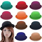 100% Wool Plain Womans Fashion Vouge Vintage Bowler Derby Hat Cap