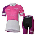 New Pink Girl Cycling Bike Short Sleeve Bicycle Women Jersey + Shorts Set S-2XL