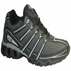 MENS BLACK RUNNING TRAINERS GYM JOGGING WALKING SHOCK ABSORBING SPORTS SHOES SZE