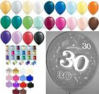 30th Birthday/Pearl Anniversary Helium Balloons Ribbons Weights Party Decoration
