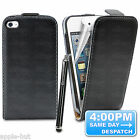 REAL GENUINE LEATHER FLIP CASE POUCH COVER FOR APPLE IPOD TOUCH 4 4TH GEN 4G