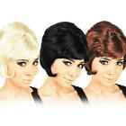 Beehive Wig 1960s Fancy Dress Mod Girl 60's Costume Ladies Adult Accessory Wig