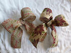 60mm x 2M Wired Christmas Hessian Ribbon for Cakes/Cards/Decorations/Favours