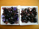 100g Mixed Glass Beads in Purple Tones - Lampwork/Faceted/Pearl and Shells