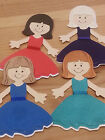 Beautiful  Flower Girl / Bridesmaid Medium toppers style B cards or scrapbooking