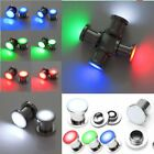 PAIR LED Light Screw Ear Flesh Plugs Tunnels Expander Stretcher Stud Piercing