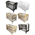 NEW BABY CHILD CLASSIC WOOD COT JUNIOR BED & ECO FOAM COTBED MATTRESS 60 x 120