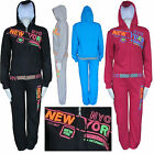 Womens Full Tracksuit Hoodie Top Jacket Girls Celebrity Bottoms Trousers S - XL