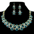 Shinning Wedding Bridal Party Crystal Rhinestone Earrings Necklace Jewelry Sets