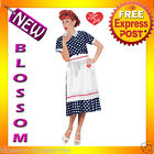 C864 Licensed Women I Love Lucy Classic Polka Dot Dress Fancy Adult Costume