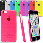 ULTRA MATTE CRYSTAL SUPER SLIM THIN CLEAR HARD BACK CASE COVER FOR IPHONE 5C