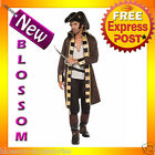 C876FN Buccaneer Captain Pirate Caribbean Mens Fancy Dress Halloween Costume