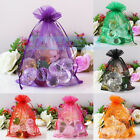 100PCS Organza Sheer Gift Candy Bags Wedding Party Favor Jewelry Pouches