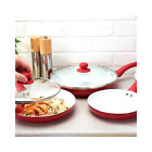 3 Piece 'Double-layer' Ceramic Frying Pan Set Non Stick Finish Cooking Kitchen