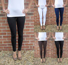 EXTRA LONG Tall Leggings HIGH RISE Cotton UK SIZE 8 10 12 14 16 18 20 22 24 26