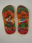 NEW Girls Kids Infant Youth DISNEY Lilo & Stitch Orange Flip Flops Sandals
