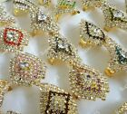 wholesale jewelry lots full of rhinestones gold plated Rings free shipping