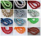 30pcs Faceted Glass Crystal Rondelle Finding Loose Spacer Beads 8x6mm All Color